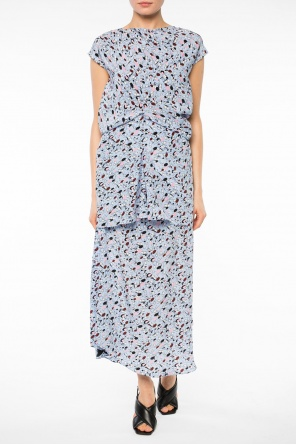 Patterned asymmetrical skirt od Marni