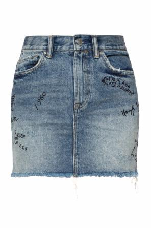 'graff' denim skirt od AllSaints