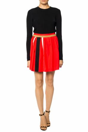 Skirt with grosgrain stripes od Moschino