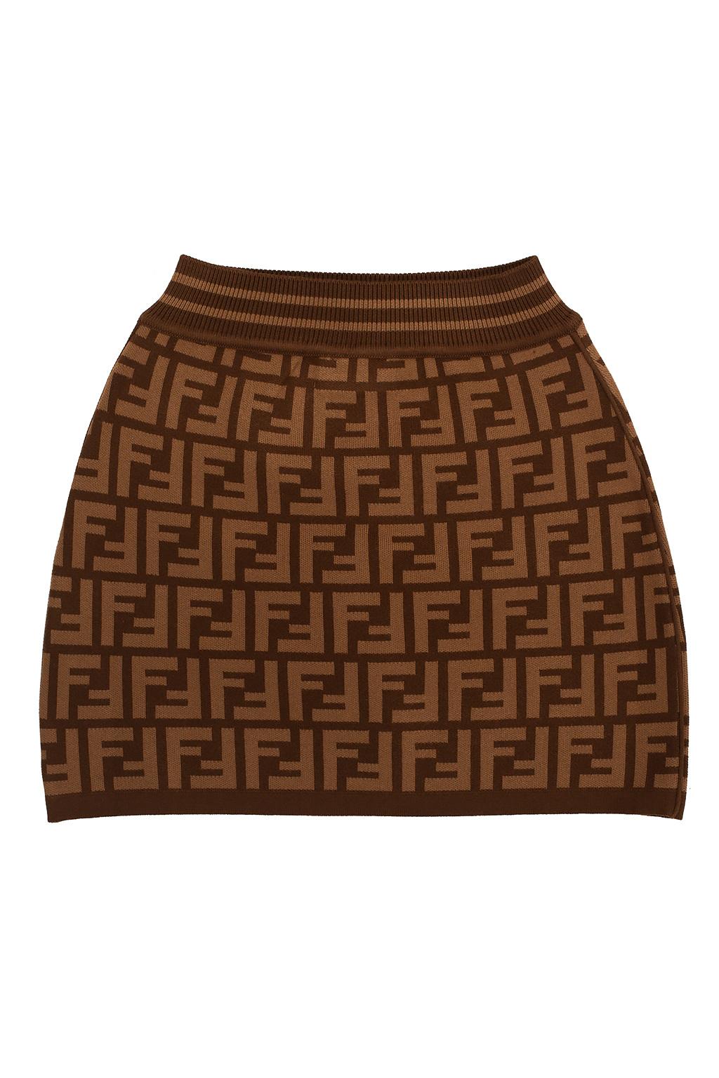 Fendi Kids Skirt with logo