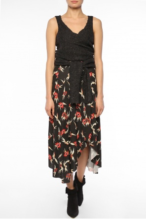 Floral motif asymmetrical dress od Isabel Marant