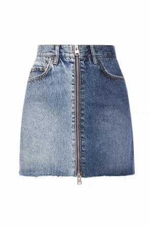 'lomo' raw-trimmed denim skirt od AllSaints
