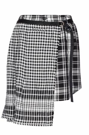 Checked asymmetrical skirt od Diesel