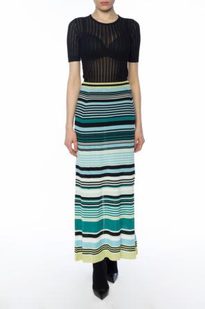 Striped ribbed skirt od Diesel Black Gold