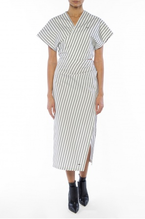 Striped skirt with slit od Off White