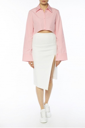 Asymmetrical skirt with vent od Off White
