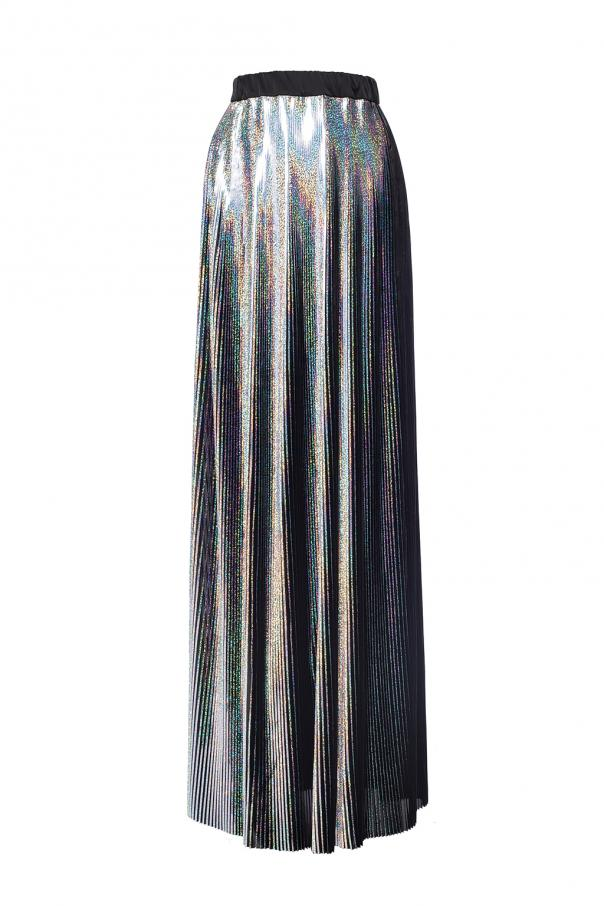 Pleated skirt with the holographic effect od Balmain
