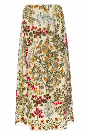 Embroidered lace skirt od Valentino Red