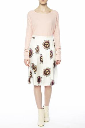 Patterned pleated skirt od Paul Smith