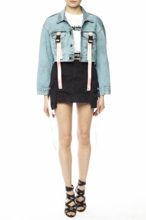 Distressed denim skirt od Palm Angels