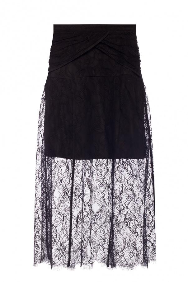Self Portrait Lace-trimmed skirt