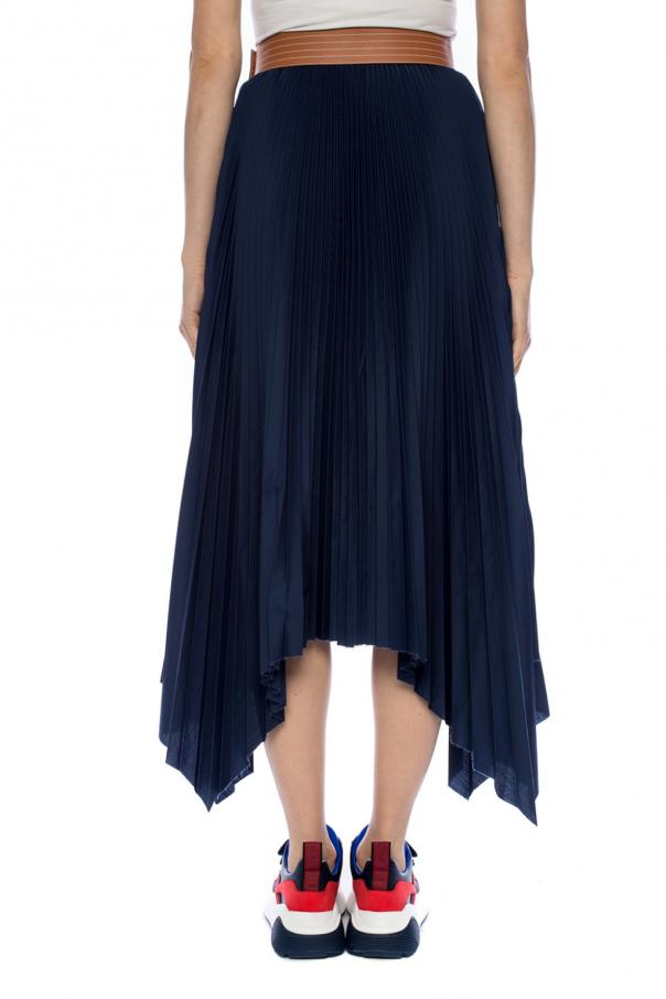 Raw-trimmed pleated skirt od Loewe