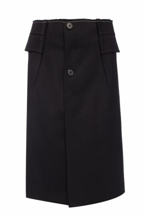 Raw-trimmed wool skirt od Maison Margiela