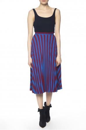 Striped pleated dress od Maison Margiela