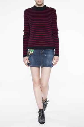 Patched denim skirt od Dsquared2