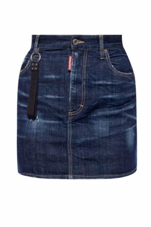 Denim skirt with charm od Dsquared2