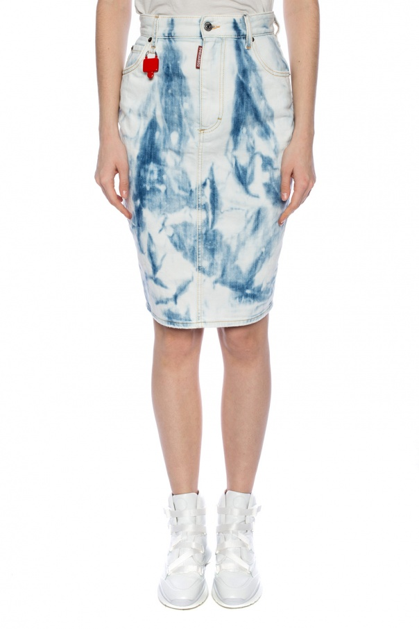 Discoloured denim skirt od Dsquared2