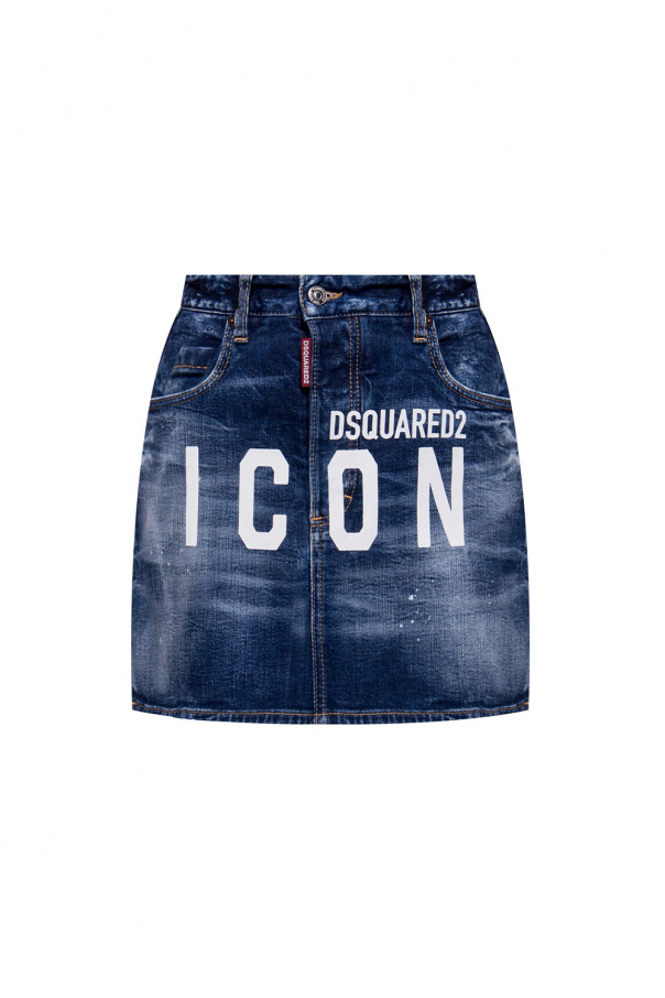 Dsquared2 Denim skirt with logo