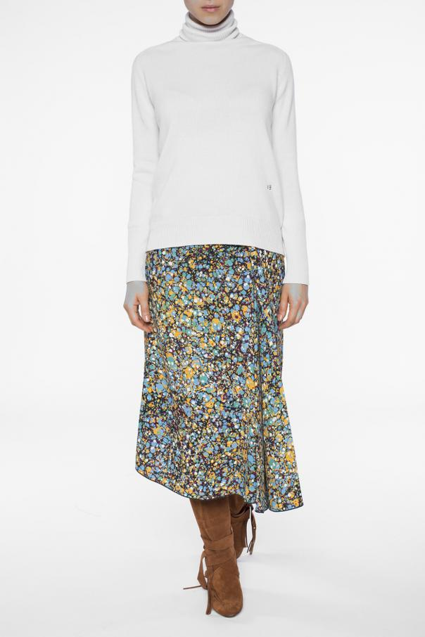 Patterned pleated skirt od Victoria Beckham