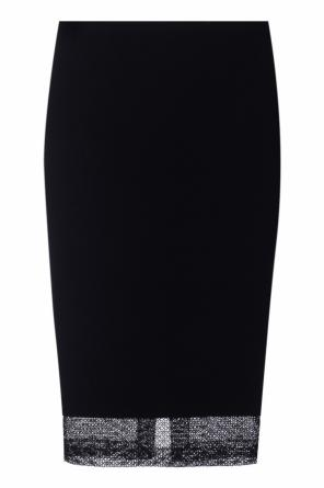 Lace-trimmed pencil skirt od Victoria Beckham