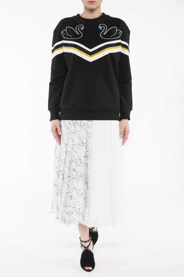 f15866438 Patterned pleated skirt Victoria Victoria Beckham - Vitkac shop online