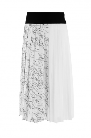 Patterned pleated skirt od Victoria Victoria Beckham