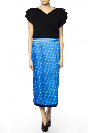 Printed pleated skirt od Victoria Victoria Beckham