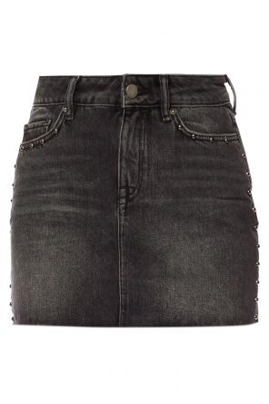 'studded' raw edge skirt od AllSaints