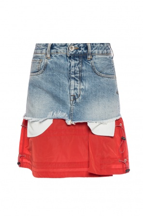 Raw-trimmed denim skirt od Unravel Project