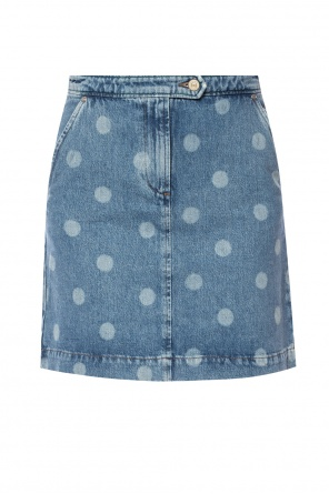 Polka dot denim skirt od Paul Smith