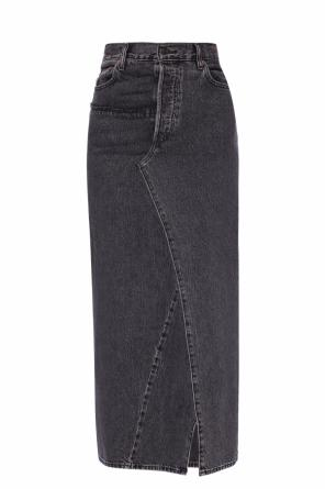 Raw-edge denim skirt od Vetements
