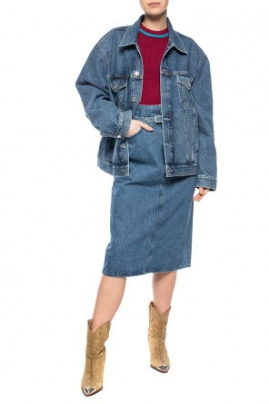 High-waisted denim skirt od Rag & Bone