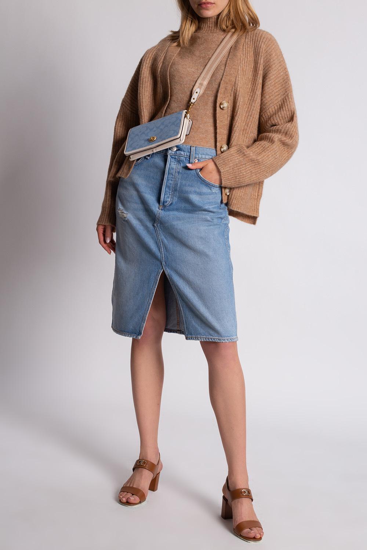 Rag & Bone  High-waisted denim skirt