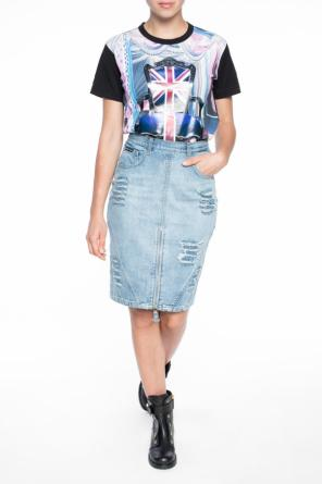 Denim skirt with holes od Philipp Plein
