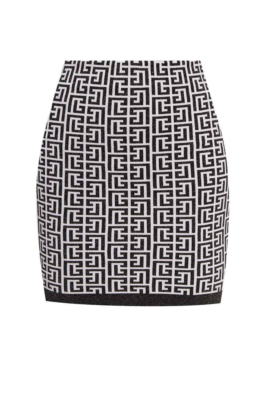 Balmain Mini skirt with logo