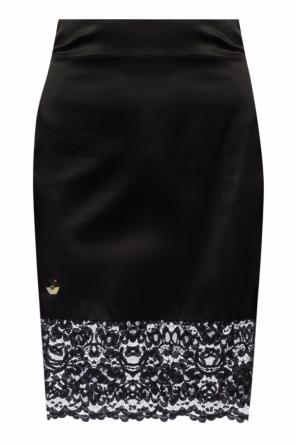 Skirt with metal logo od Philipp Plein