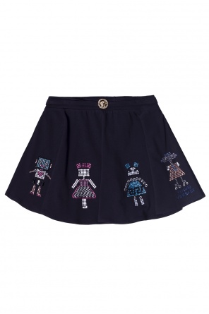 Appliqued skirt od Versace Young