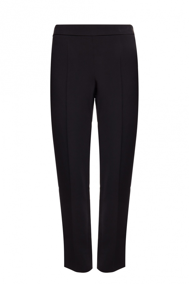 Emporio Armani Pleat-front trousers with vents
