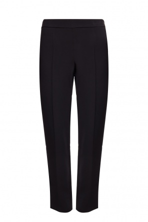 Pleat-front trousers with vents od Emporio Armani