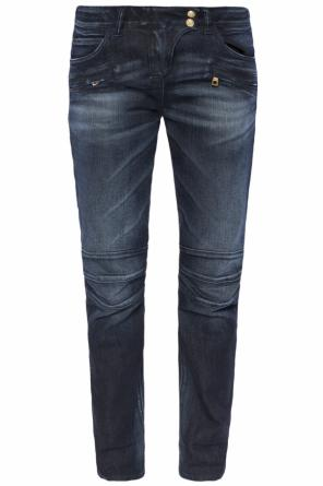 Jeans with rolled-up cuffs od Balmain