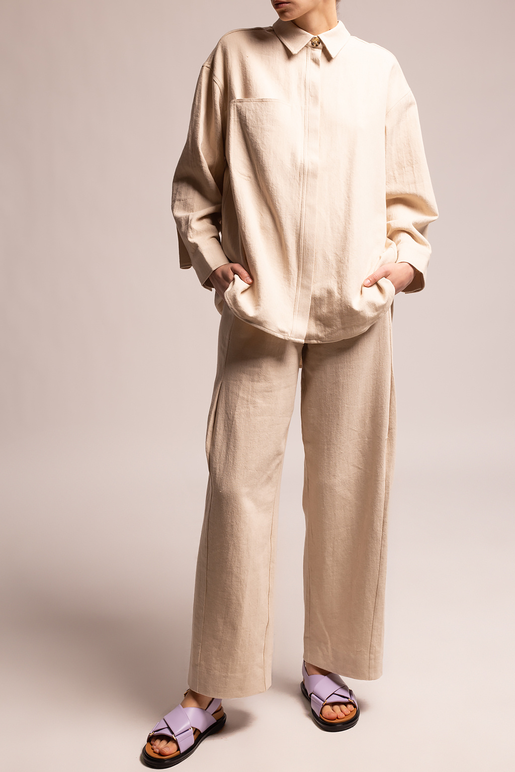 Holzweiler Wide-leg pleated trousers