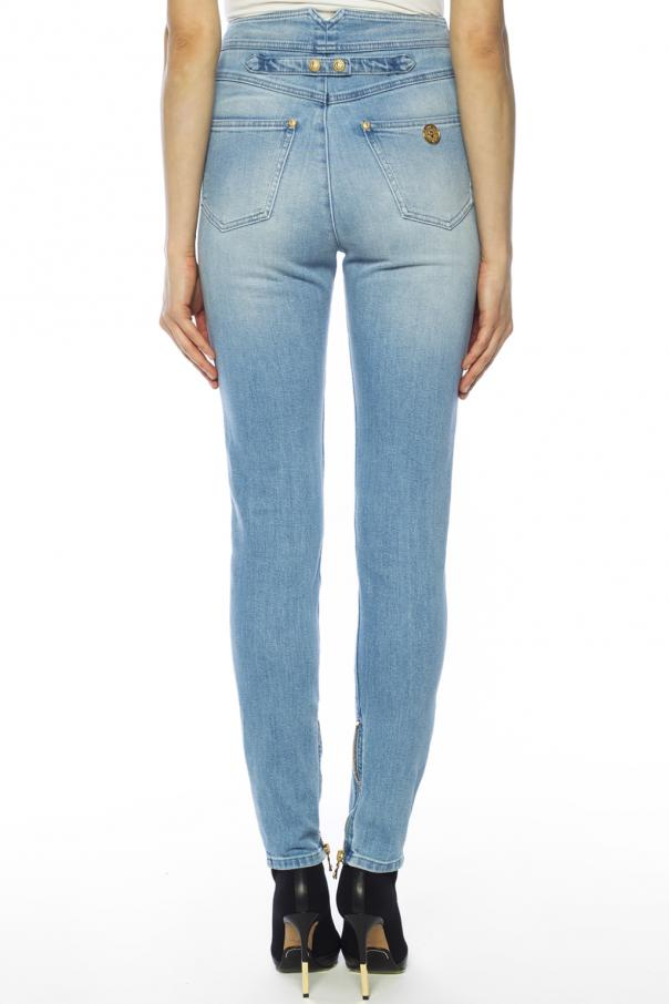 High-waisted jeans od Balmain