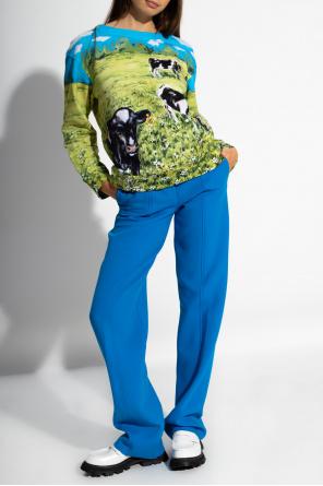 Spodnie w kant od Salvatore Ferragamo