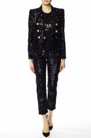 Sequinned trousers od Balmain