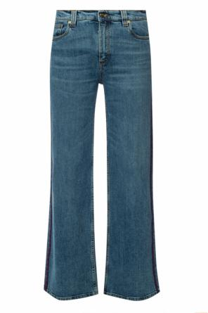 Logo-patched flared jeans od Etro