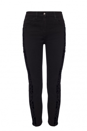 Jeans with velvet applications od Etro