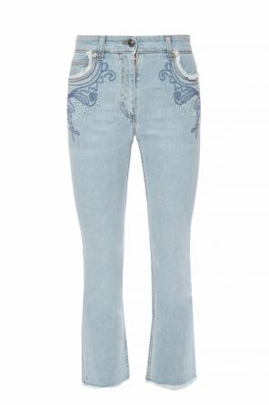 Embroidered flared jeans od Etro