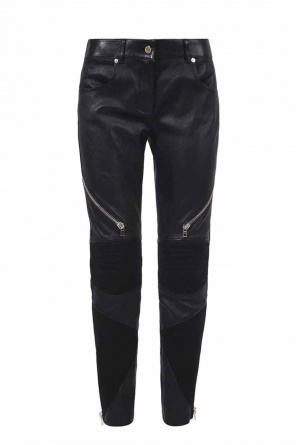 Zipped leather trousers od Givenchy