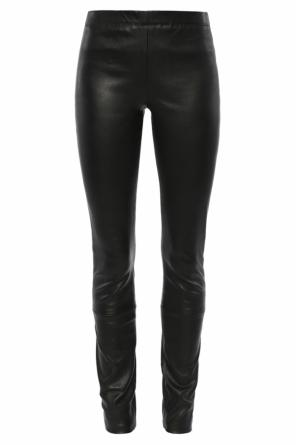 Appliqued leather trousers od Haider Ackermann