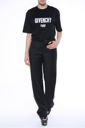 Side-stripe pleat-front trousers od Givenchy